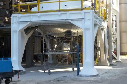protezione passiva fuoco di strutture in acciaio - raffineria impianto petrolchimico con intonaco ignifugo Isolatek Type MII