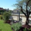 copertura a verde intensivo realizzata con sistema Perliroof - Perligarden con alberi di III grandezza e arbusti - edificio ad uso uffici