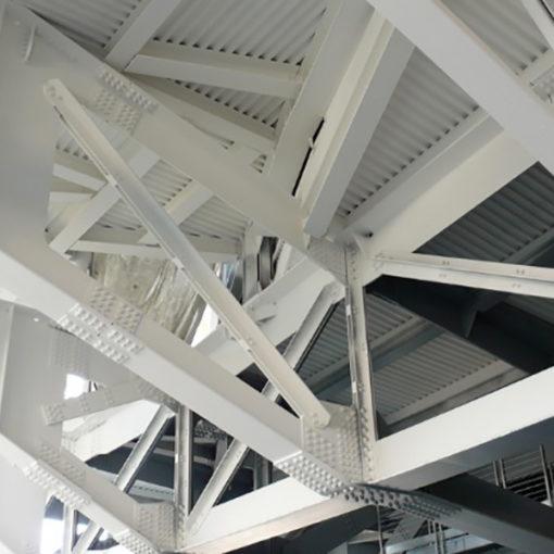 protezione passiva al fuoco di strutture in acciaio realizzato con vernice intumescente - Nuvola - Roma
