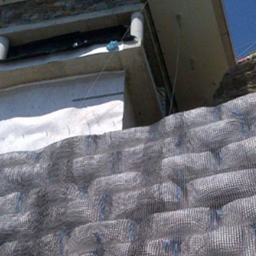 big bags di Igroperlite per riempimento scarpata griglie contenimento