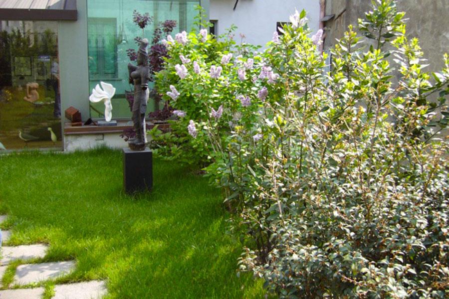 tetto giardino intensivo Perliroof - Perligarden con piccoli alberi e grandi arbusti - stabile residenziale - Milano